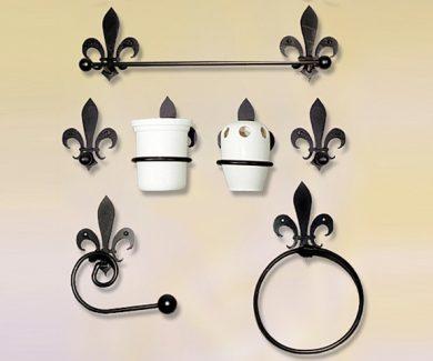 Juego de accesorios de baño en forja