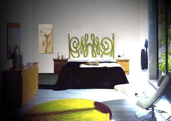 Cabecero de cama de forja moderno