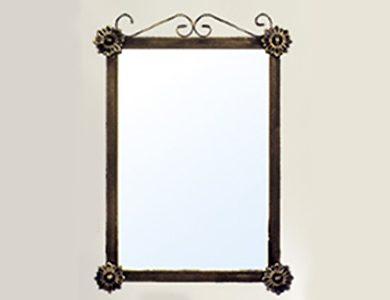 Espejo de forja para baños